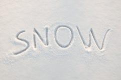 Texto de la nieve Imágenes de archivo libres de regalías