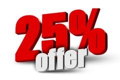 texto de la oferta 3d del 25% Ilustración del Vector