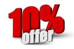 texto de la oferta 3d del 10% Imágenes de archivo libres de regalías