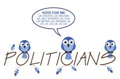 Texto de la ramita de los políticos Imagen de archivo