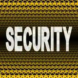 Texto de la seguridad con los candados Fotos de archivo libres de regalías