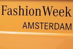 Texto de la semana de la moda de Amsterdam Fotos de archivo