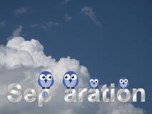 Texto de la separación Imágenes de archivo libres de regalías