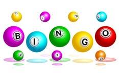 Texto de las bolas del bingo Imagenes de archivo