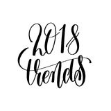texto de las letras de la mano de 2018 tendencias Imagenes de archivo