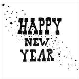 Texto de las letras de la mano de la Feliz Año Nuevo Colección hecha a mano de la caligrafía del vector Imagenes de archivo