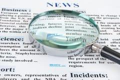 Texto de las noticias imágenes de archivo libres de regalías