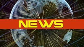 Texto de las noticias 3d Imagen de archivo