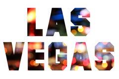 Texto de Las Vegas fotos de archivo libres de regalías