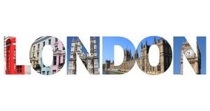 Texto de Londres Fotografía de archivo