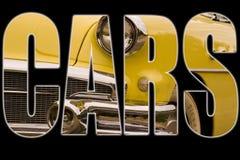 Texto de los coches Imagen de archivo