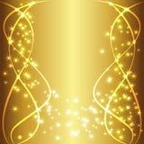 Texto de lujo del fondo del oro Imagenes de archivo