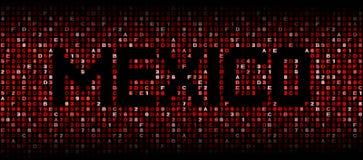 Texto de México en el ejemplo del código del maleficio libre illustration