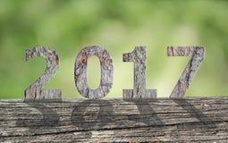 Texto de madera 2017 Imágenes de archivo libres de regalías