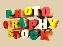 Texto de madera colorido 3D Foto de archivo