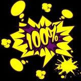 Texto de 100% no estilo da banda desenhada Fotografia de Stock