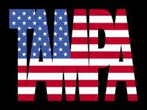 Texto de Tampa com bandeira Foto de Stock