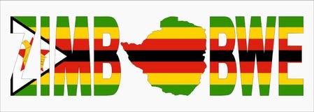 Texto de Zimbabwe com mapa