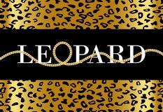 Texto decorativo del 'leopardo ' stock de ilustración