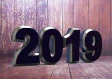 Texto 2019 del Año Nuevo imagen de archivo libre de regalías