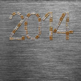 Texto del Año Nuevo 2014 Fotografía de archivo