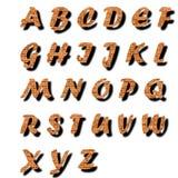 Texto del alfabeto del ladrillo Fotos de archivo