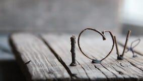 Texto del amor - día de tarjetas del día de San Valentín, día de madres, boda, eventos románticos, fondo para la enhorabuena almacen de video