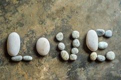 Texto del amor del ZEN Stone Imagen de archivo