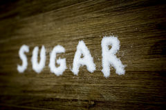Texto 3 del azúcar imagen de archivo