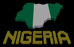Texto del barril de Nigeria con el ejemplo de la bandera del mapa libre illustration