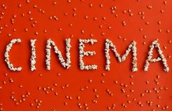 Texto del cine Imágenes de archivo libres de regalías