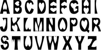 Texto del corazón del amor del alfabeto libre illustration