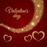 Texto del día de la tarjeta del día de San Valentín s Foto de archivo