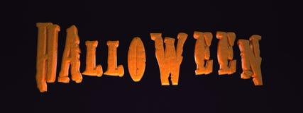 Texto del ` de Halloween del ` Fotos de archivo libres de regalías