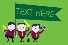 Texto del texto de la escritura aquí Concepto que significa el espacio en blanco para poner la plantilla expresa de las sensacion ilustración del vector