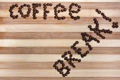 Texto del descanso para tomar café Imagen de archivo