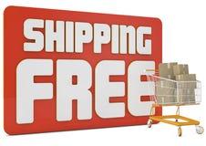 Texto del envío gratis 3d Imágenes de archivo libres de regalías