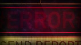 Texto del ERROR almacen de metraje de vídeo