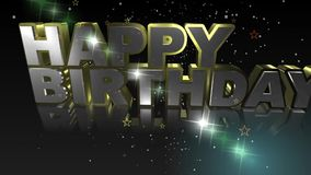 Texto del feliz cumpleaños del cumpleaños ilustración del vector