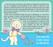 Texto del fondo con el gato Imagenes de archivo