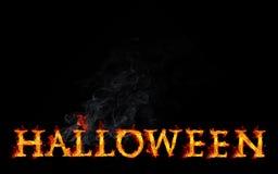 Texto del fuego de Halloween ilustración del vector