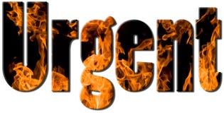 Texto del fuego - urgente Foto de archivo