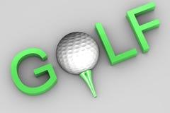 Texto del golf Imágenes de archivo libres de regalías