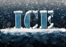 Texto del hielo Fotografía de archivo libre de regalías