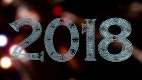 Texto del hielo del Año Nuevo 2018 ilustración del vector