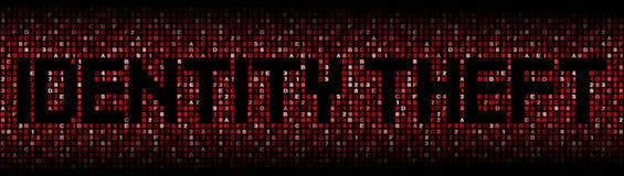 Texto del hurto de identidad en el ejemplo del código del maleficio libre illustration