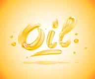 Texto del líquido del aceite Ilustración del vector stock de ilustración