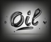 Texto del líquido del aceite Ilustración del vector libre illustration