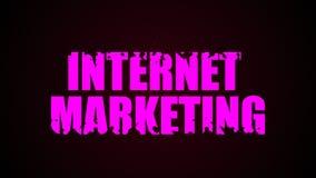 Texto del márketing de Internet Fondo líquido de la animación libre illustration