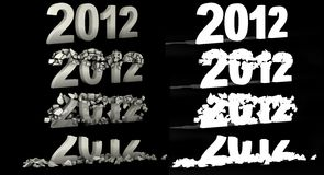 Texto del número de la destrucción 2012 Imagen de archivo libre de regalías